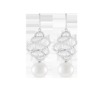 Earrings Calligrapher Diamond P17006